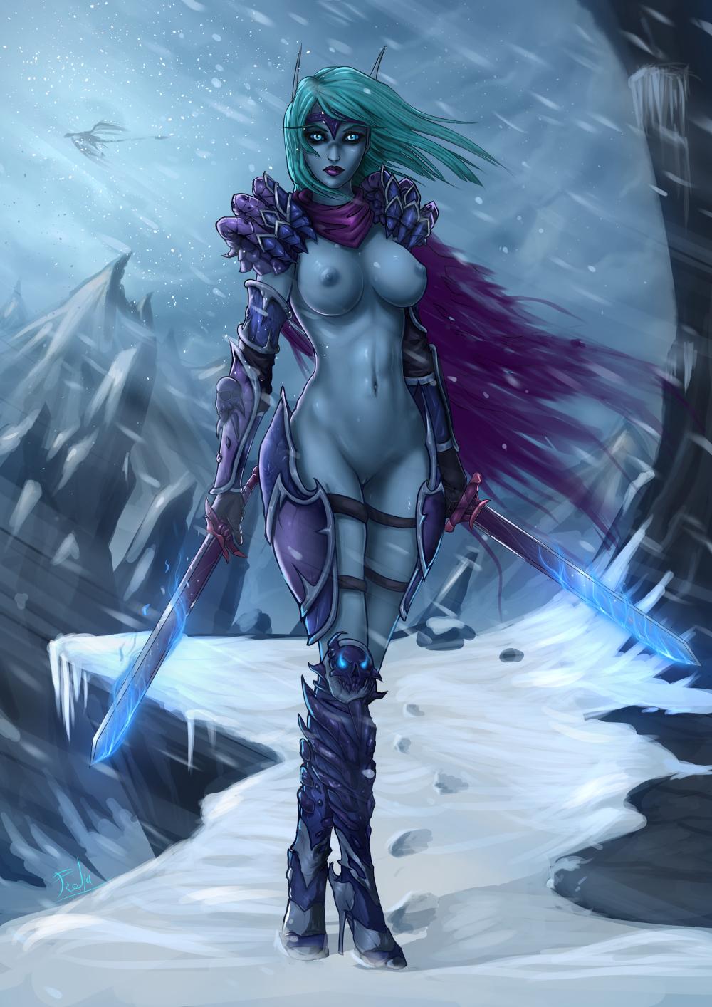 blood elf world warcraft porn of No game no life rl