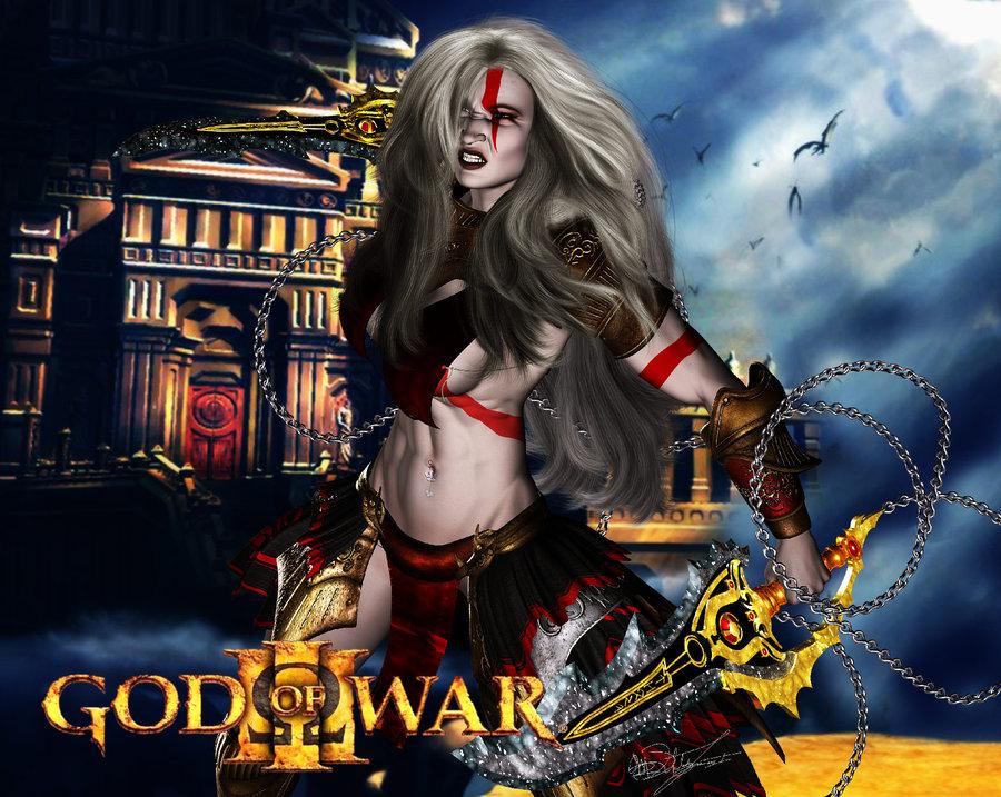 war 2 god of clotho Cum in uterus