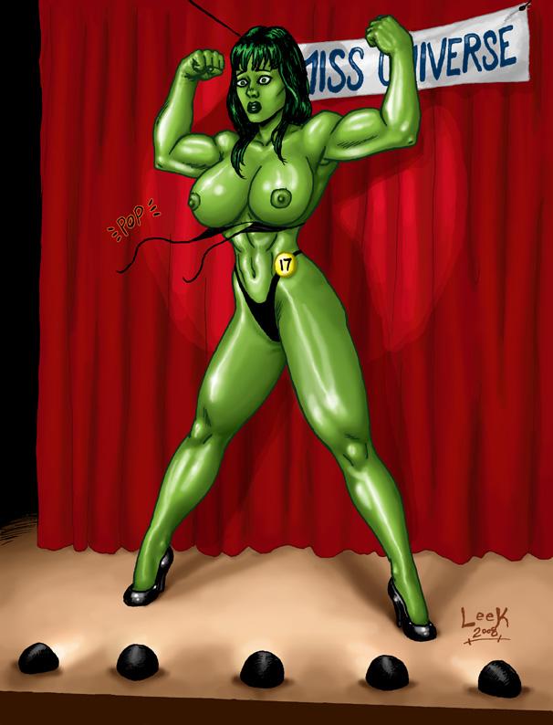 red she hulk hulk vs Sora no iru mizu no iru