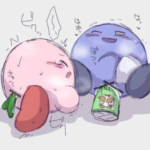 lemon knight kirby meta x Tsuma no biniku o ijiru chichi no futoi yubi