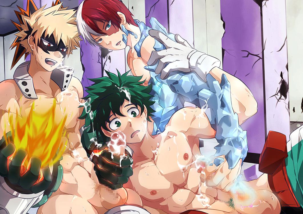 shouto todoroki midoriya izuku x Konosuba does aqua wear panties
