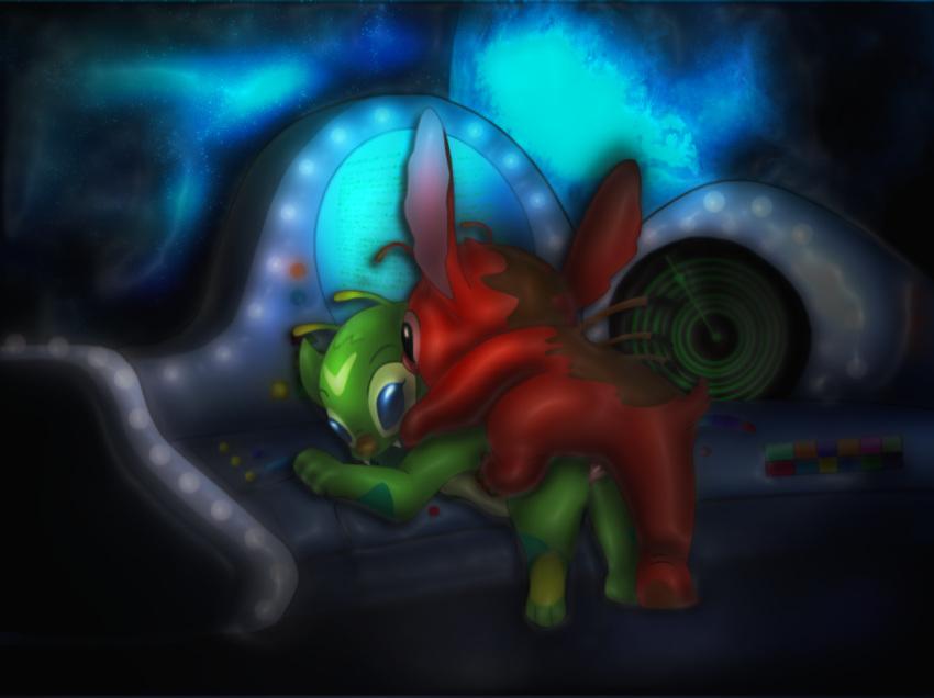 stitch lilo yellow alien and Dragon ball z female goku