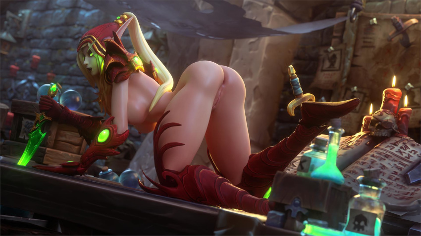 warcraft world porn blood of elf Vennominaga the diety of poisonous snakes