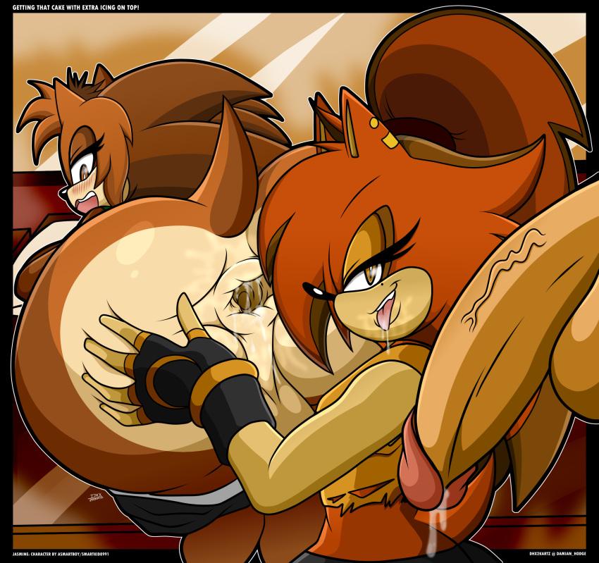 hedgehog female characters sonic the Hulk pounding black widow gif