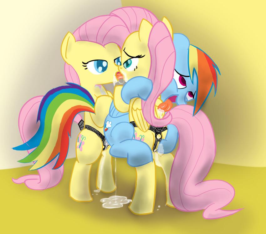 rainbow nude pony dash my little Just monika background without monika