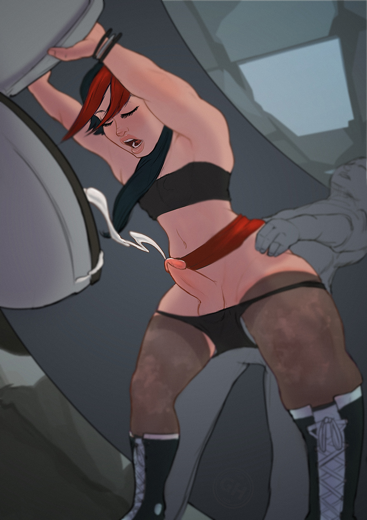 sex bathroom in stall gay Teen titans beastboy and raven porn